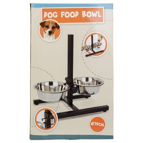 Double Bowl Dog Height Adjustable Stand Feeding Tiernapf