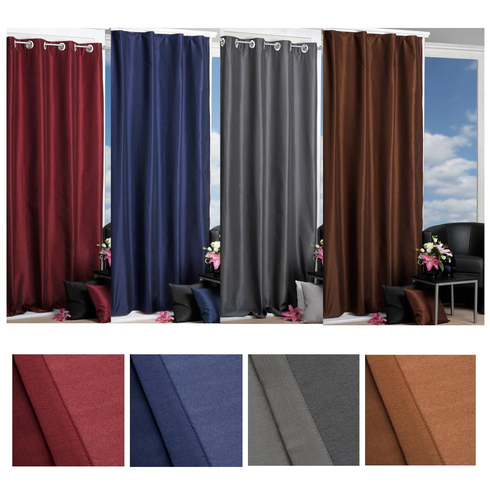 rideau thermique store opaque gardine suspendre foulard. Black Bedroom Furniture Sets. Home Design Ideas
