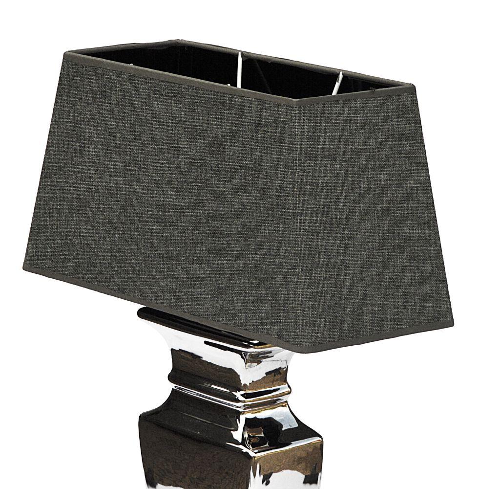 couleur argent lady 59 cm lampe de table gris shabby chic en c ramique ebay. Black Bedroom Furniture Sets. Home Design Ideas
