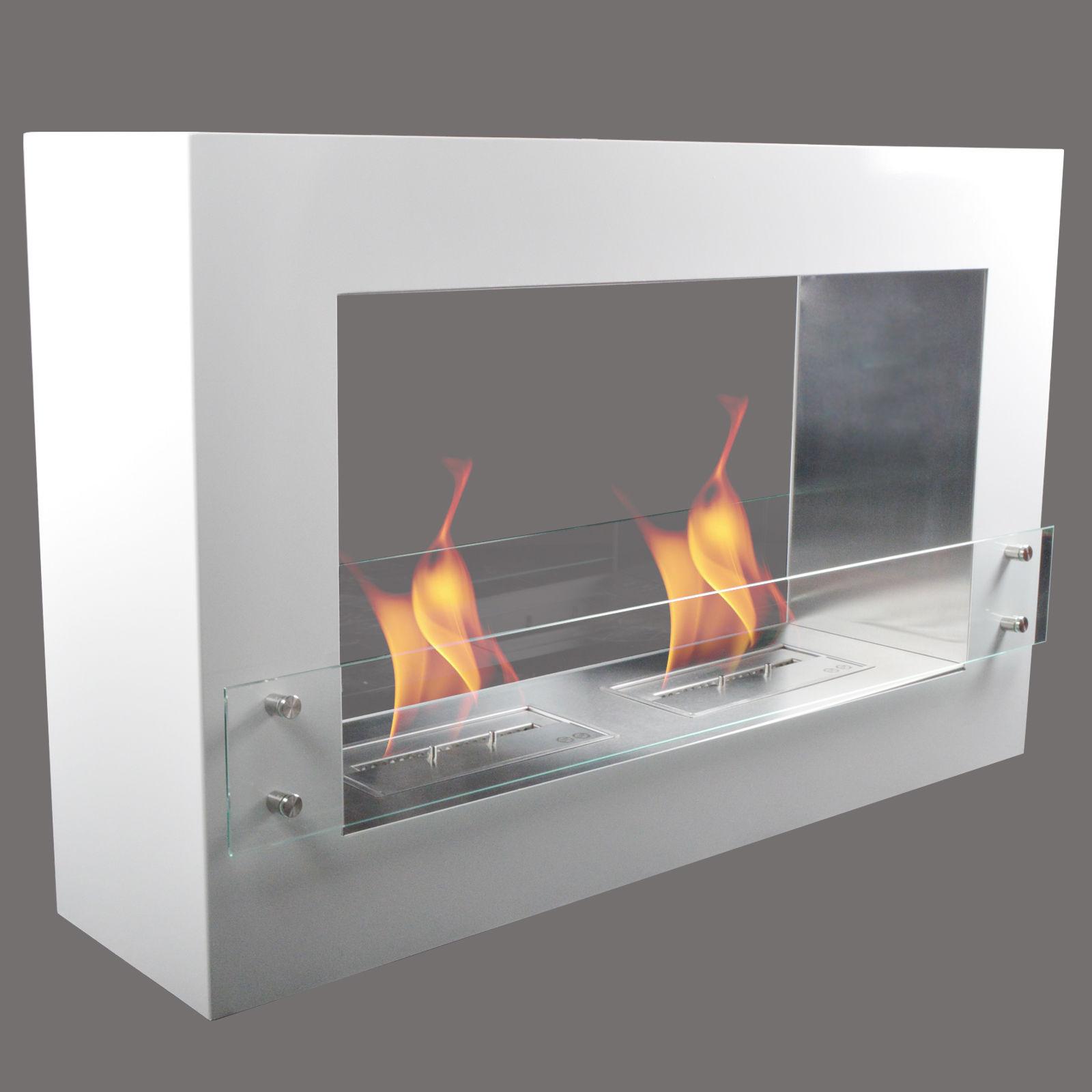 Kamin chimenea de pared mesa etanol gel c mara quemado - Chimenea bioetanol pared ...