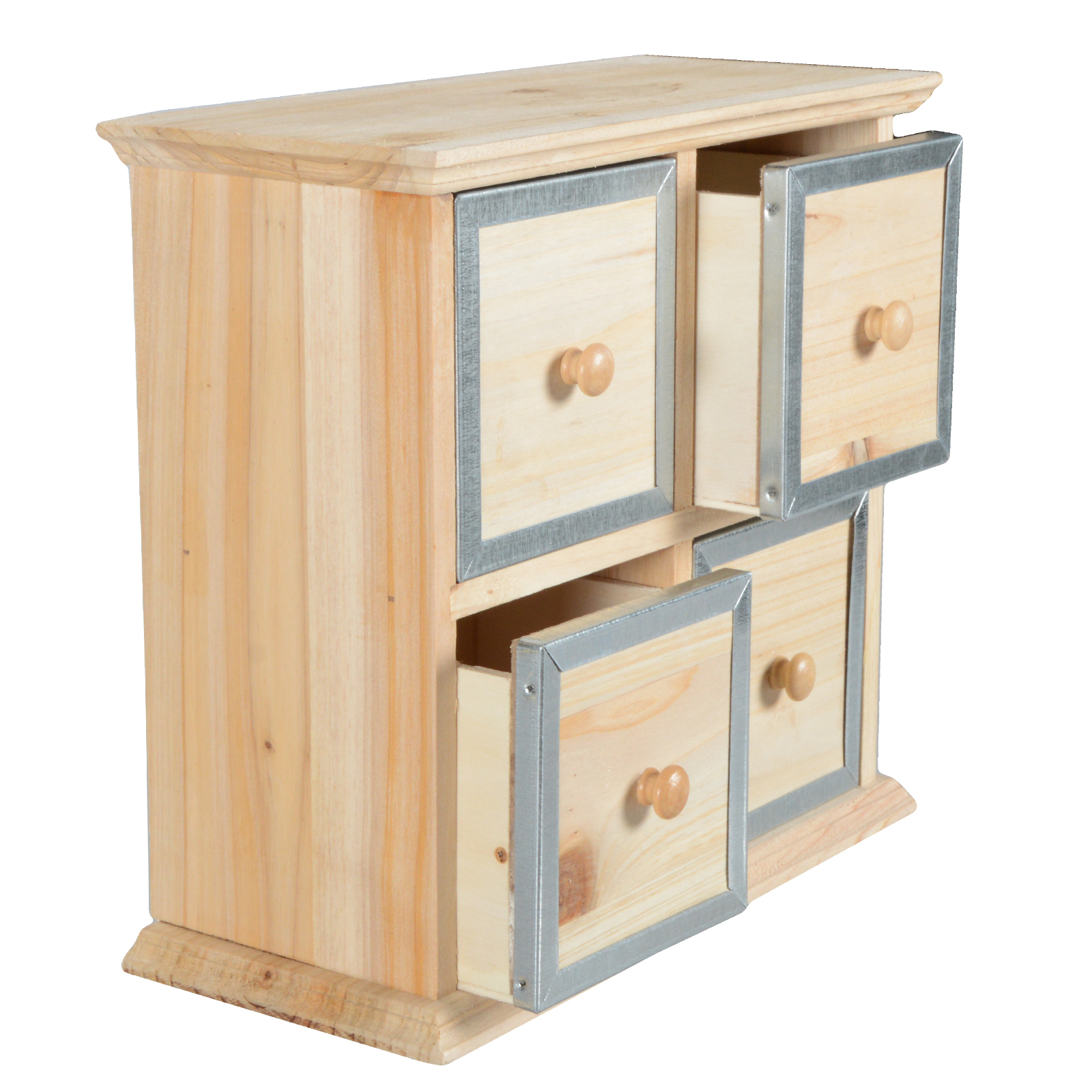 mini kommode kommode metall schrank naturholz shabby chic aufbewahrung. Black Bedroom Furniture Sets. Home Design Ideas