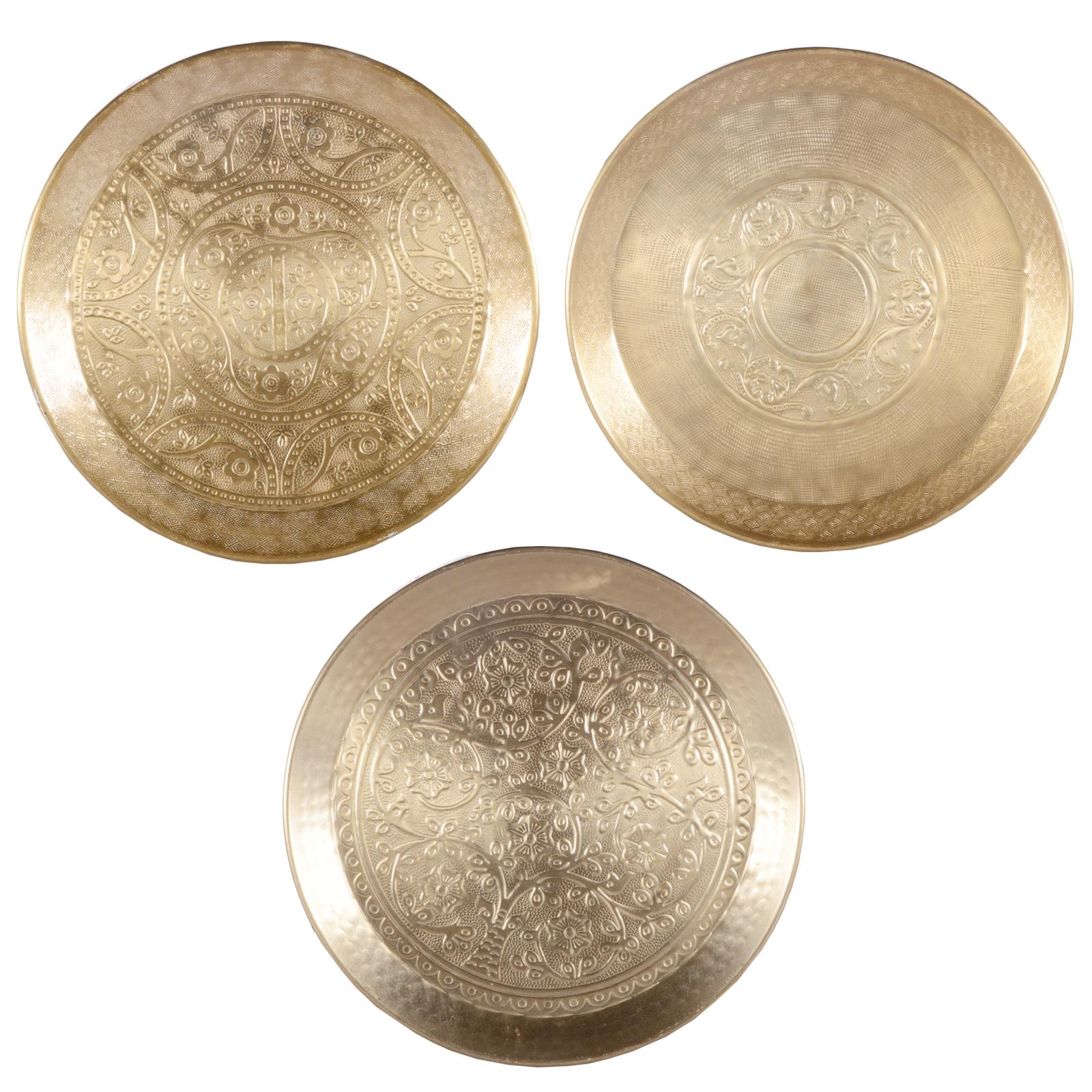 Alu dekoteller gold weihnachtsteller obstteller kerzentablett platzteller ebay - Dekoteller gold ...