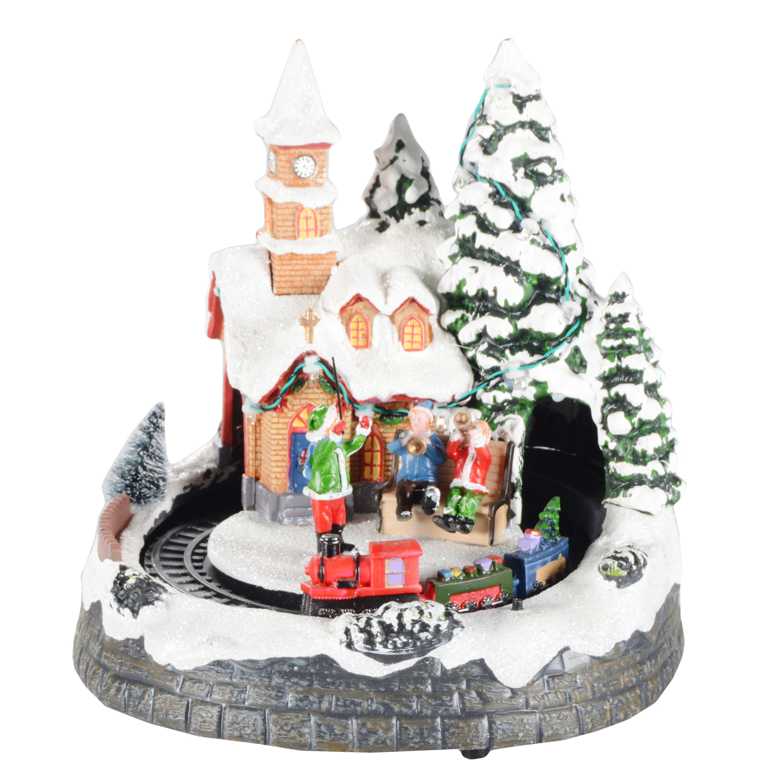 weihnachtsdorf mit licht und musik weihnachtsdeko weihnachten dekoration musik. Black Bedroom Furniture Sets. Home Design Ideas